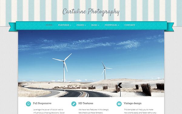 Cartuline Responsive Bootstrap Template