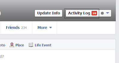 Clear you facebook search history - step 1