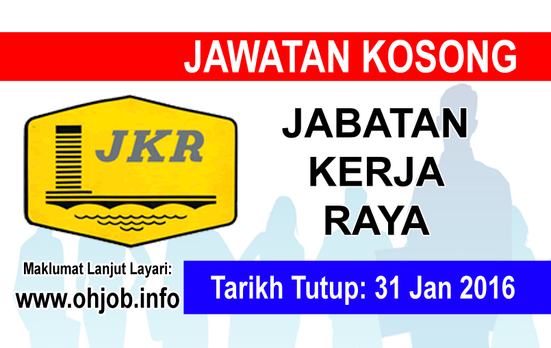 Jawatan Kerja Kosong Jabatan Kerja Raya (JKR) logo www.ohjob.info januari 2016