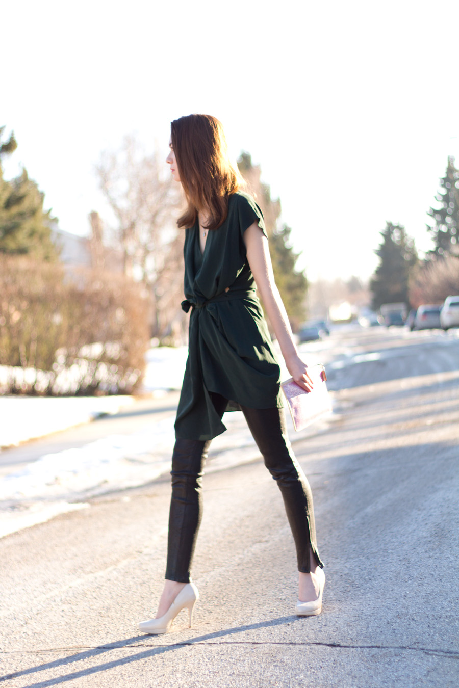 what to wear for valentines, date outfit, all saints, dee dress, j brand, leather pants, valentines outfit, galentines outfit, valentines day inspiration
