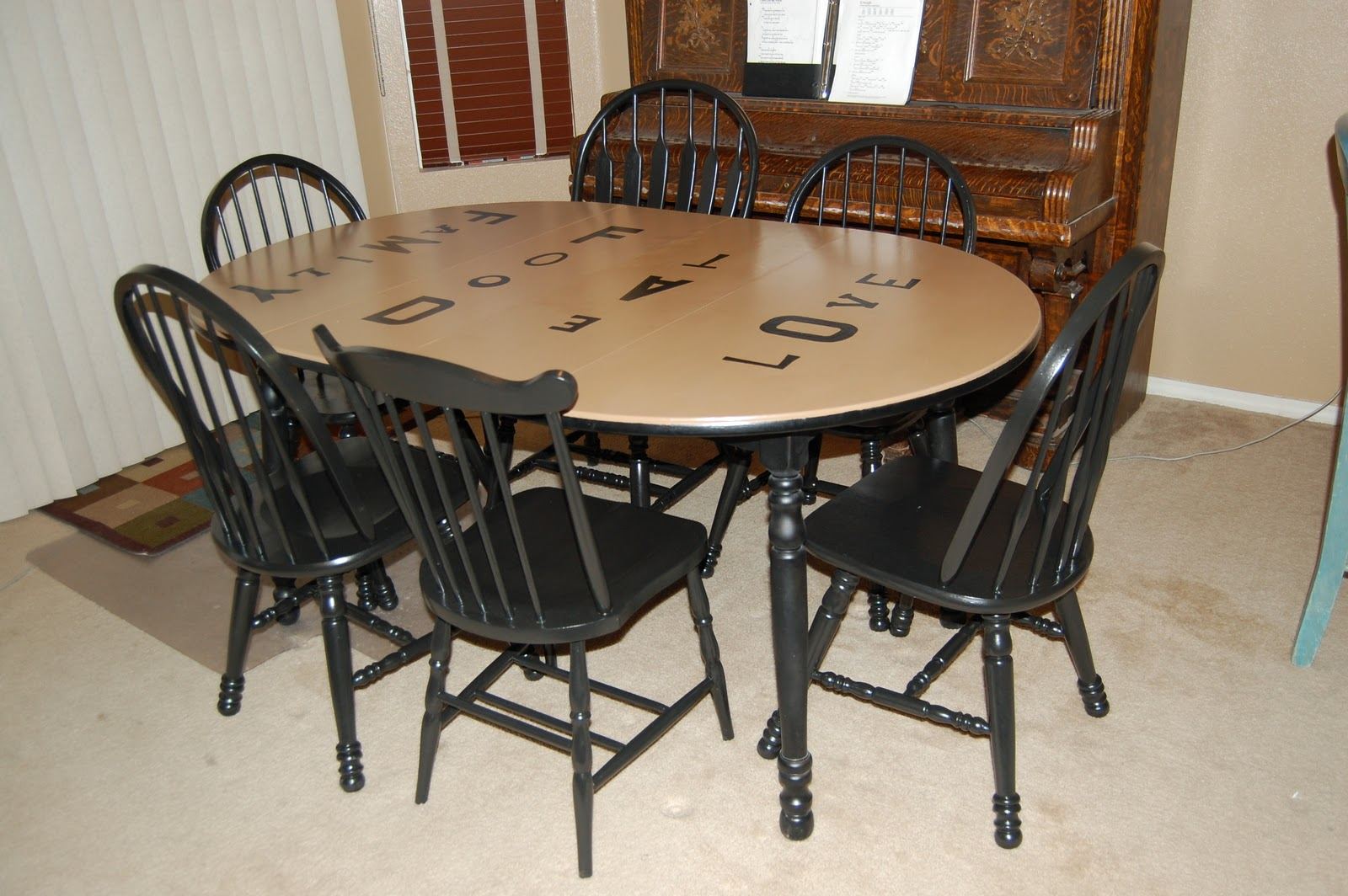 Diy furniture refinishing - Refinishing a kitchen table ...