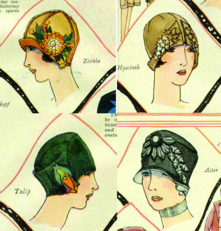 The Vintage Pattern Files: 1920\'s Sewing - Cloche Hats