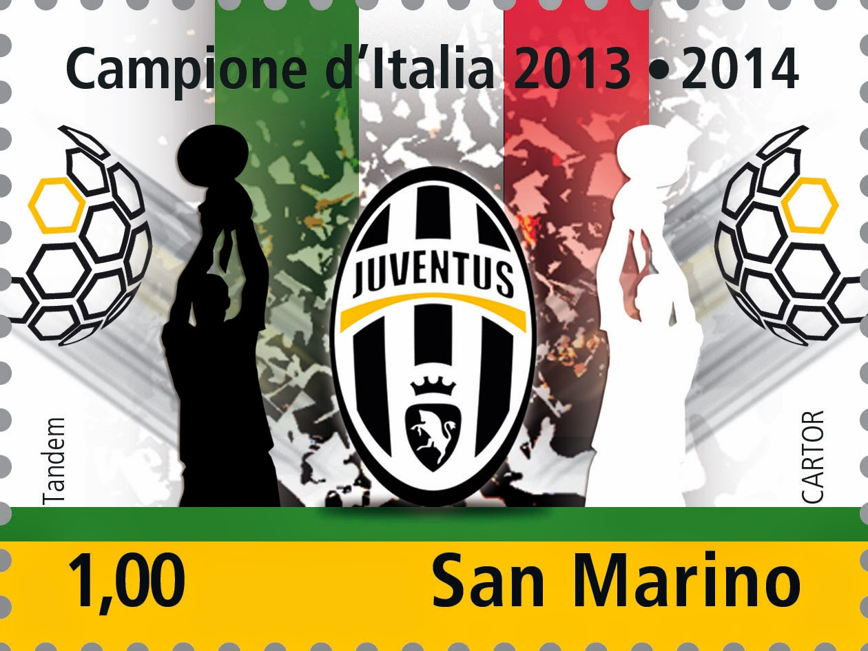 Juventus Italian Champion 2013-2014  - WS Philately News