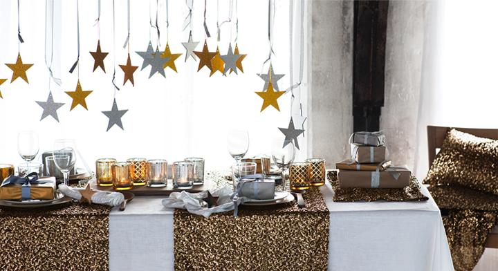 Decoraci n f cil decoracion de la mesa para fin de a o for Decoracion 31 de diciembre
