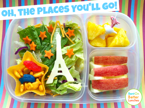 Oh the places you'll go Seuss -ish bento school lunch