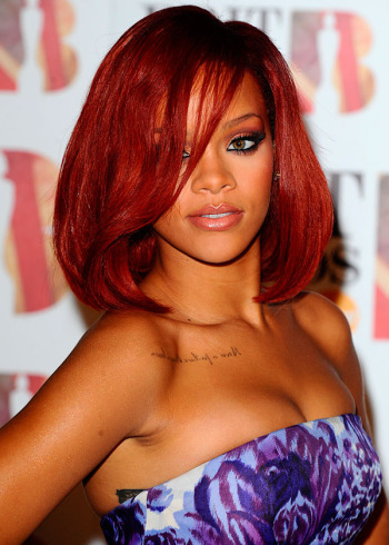 rihanna red hair curly hair. rihanna red curly hair ama