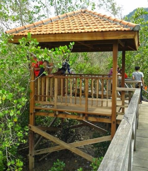 Ada Gazebo (Gubuk) sebagai tempat peristirahatan saat mengelilingi tanaman Mangrove
