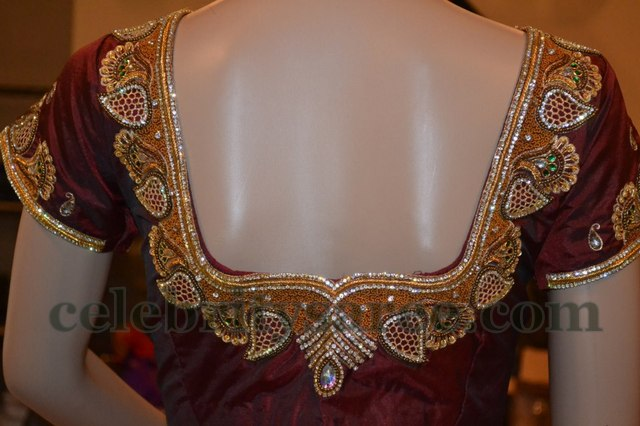 Elegant Work Silk Blouse Designs