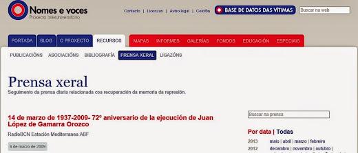 72º aniversario de Juan en Nomes e Voces