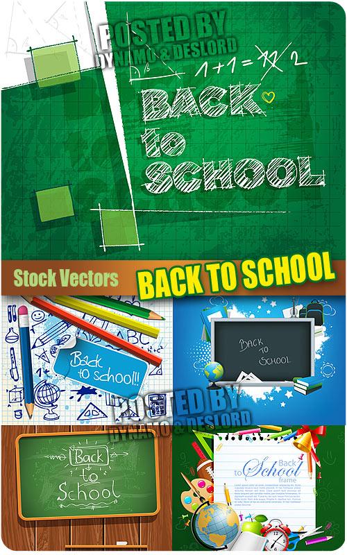Vectors Desain Template Back to school