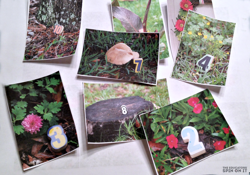 Create a Scavenger Hunt with Kids with Numbers