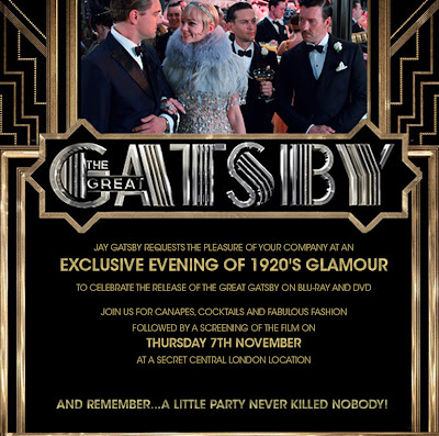 The Great Gatsby Party Invitation