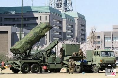 Các tên lửa Patriot được triển khai tại Bộ Quốc phòng Nhật - Ảnh: AFP