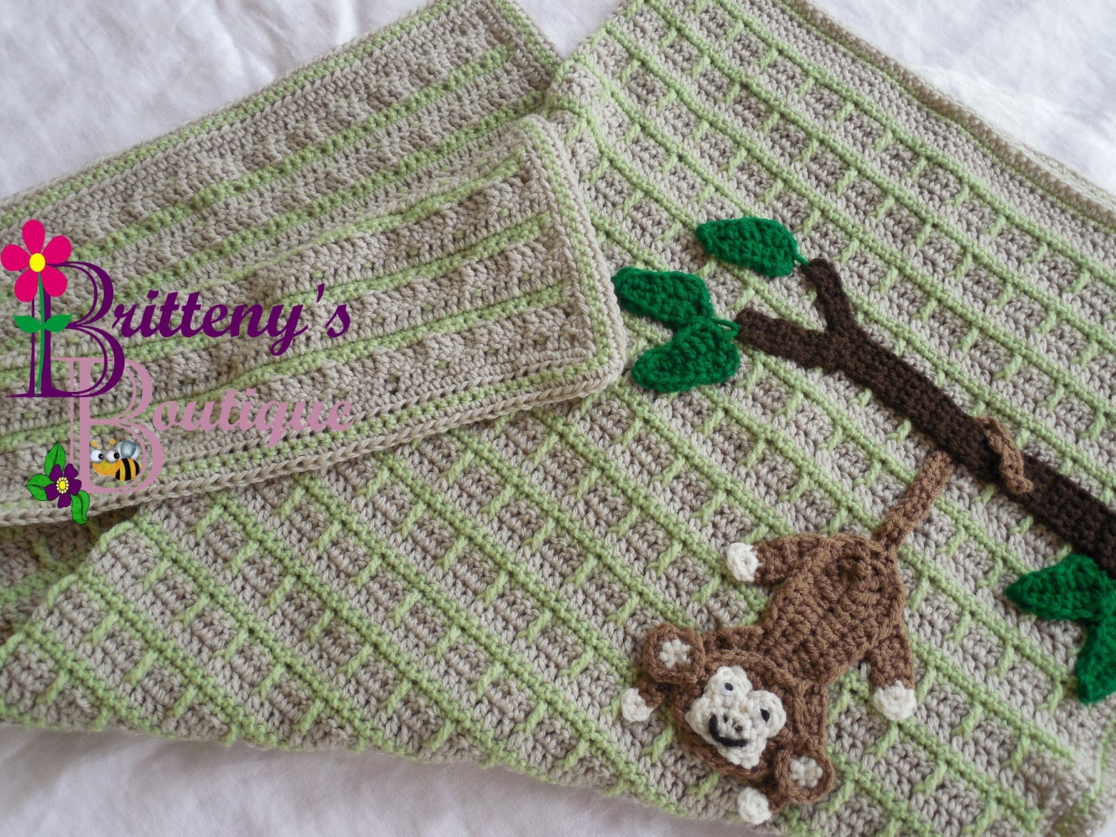 Britteny Off the HOOK!!: Swinging Monkey Baby Blanket Crochet ...