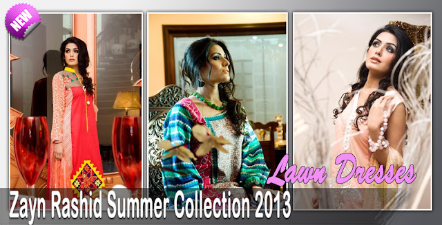 Zayn Rashid Summer Lawn Dresses Collection 2013
