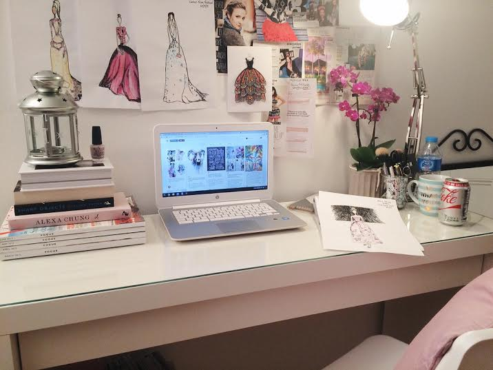 ikea white malm desk bedroom inspo style chic modern