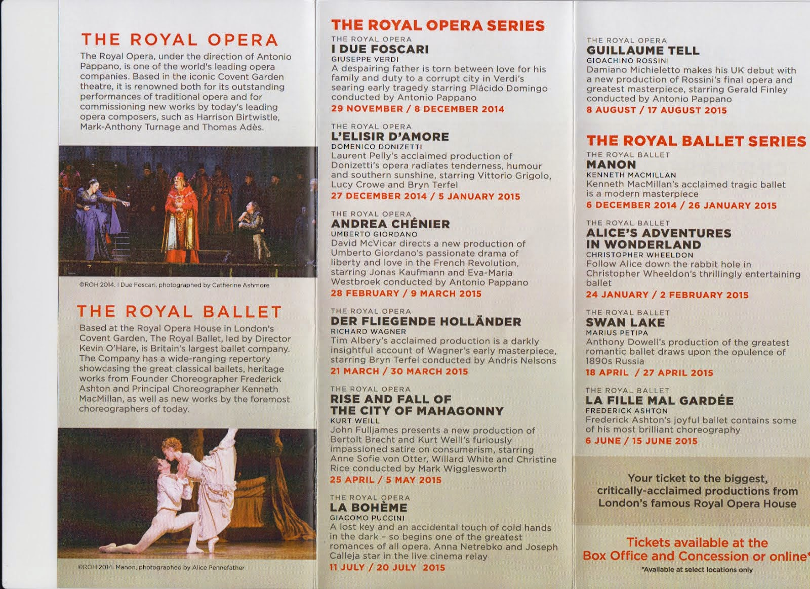 Ballet Schedule Columbia Theatre, Search to see larger posting