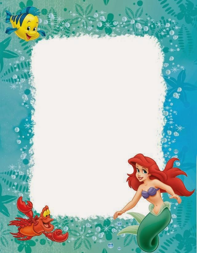 little mermaid free printables. | is it for parties? is it free, Party invitations