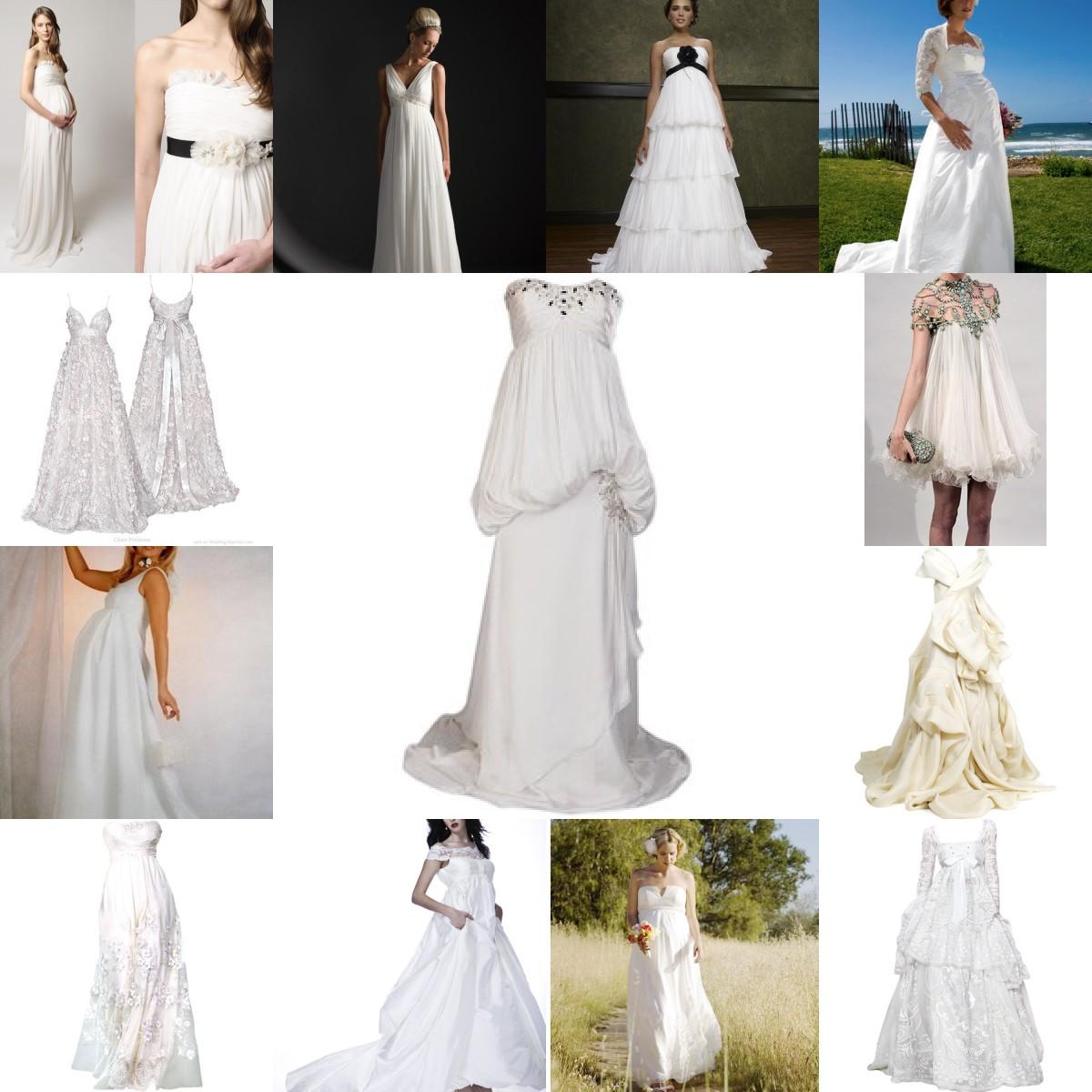 www.WEDDINGCANDYNOW: Baby Bump Wedding Dresses