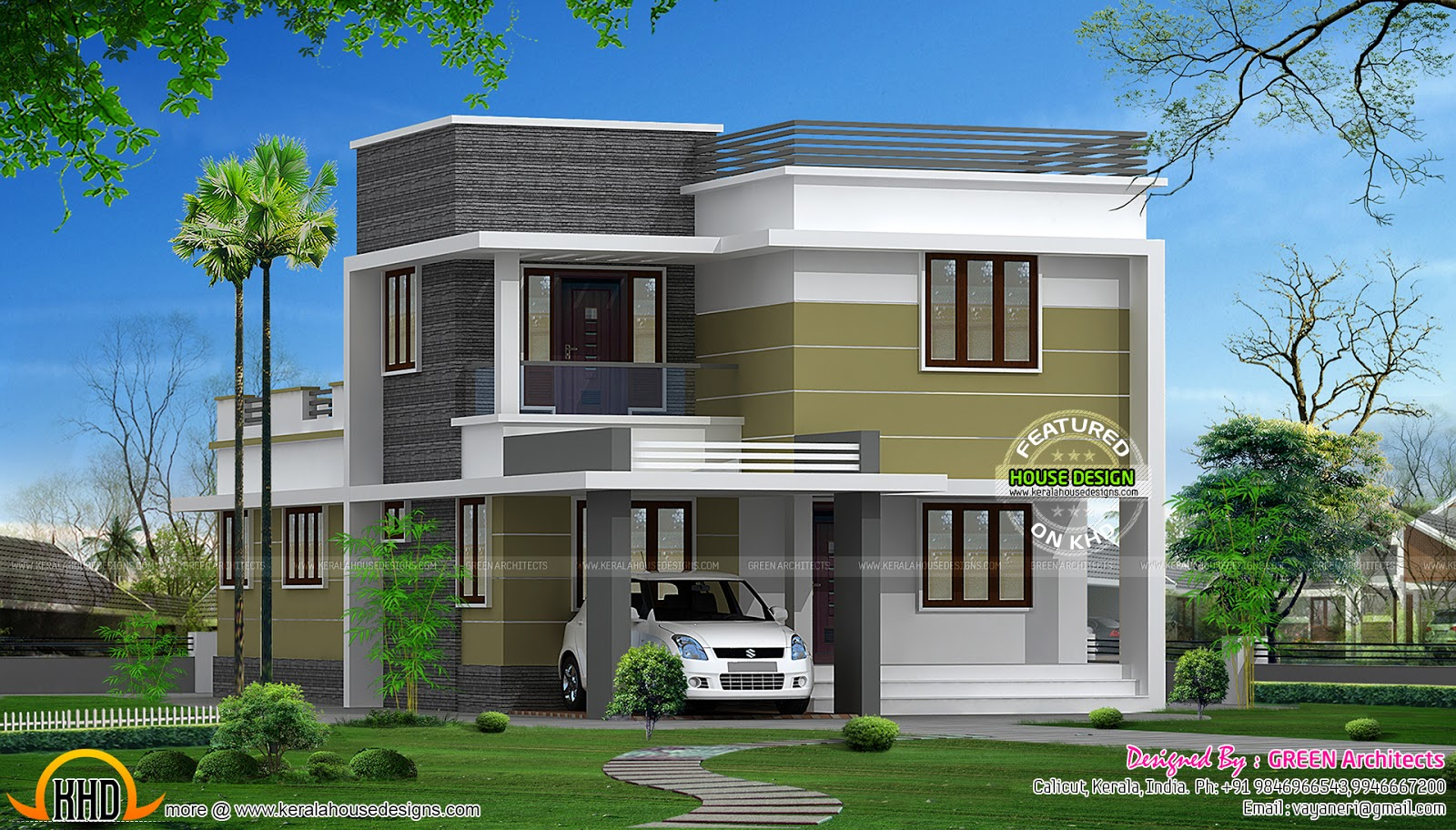 186 sq m small double storied house in kerala kerala for Small house design for bangladesh