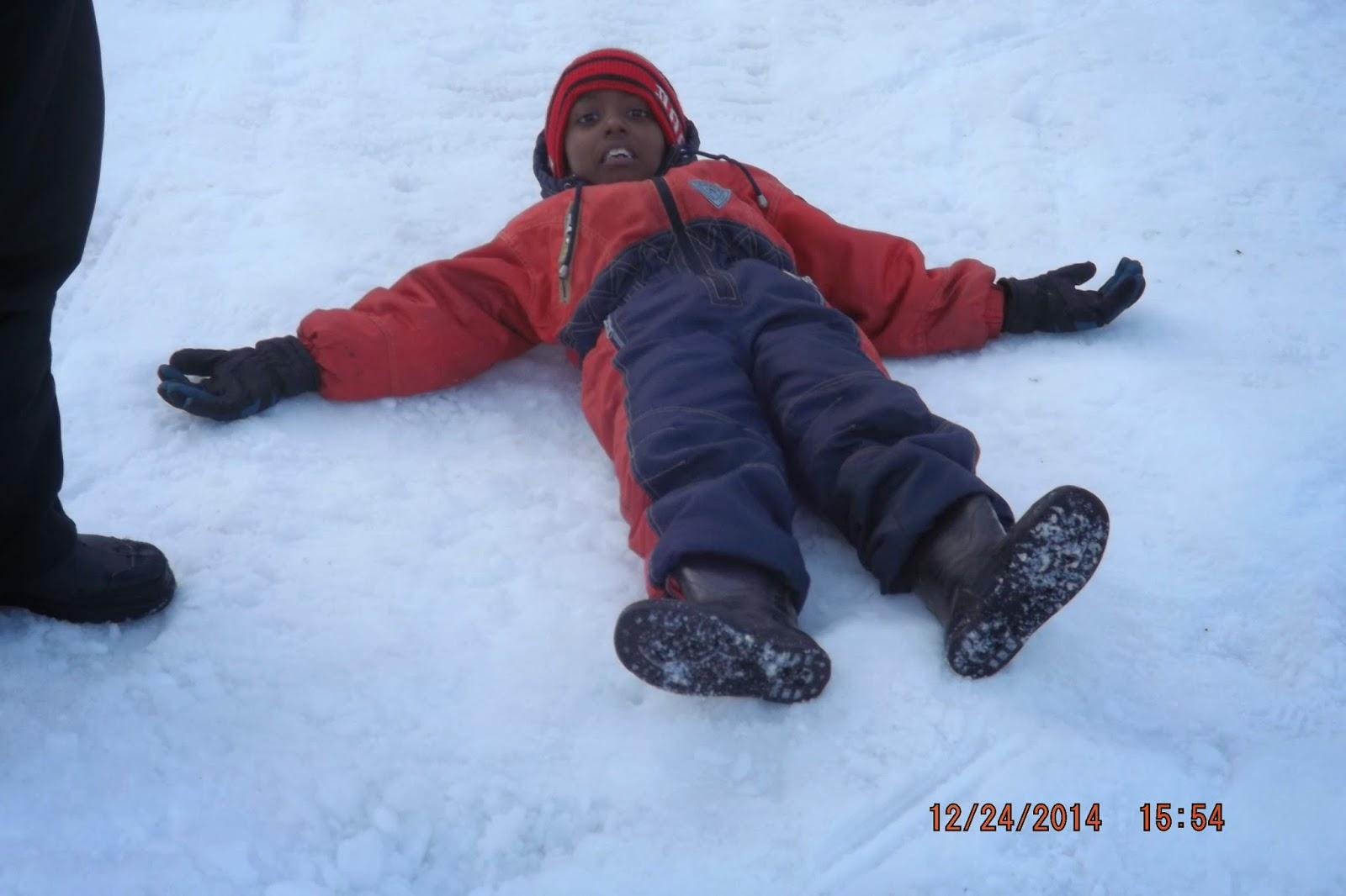 Chandradittya Banik enjoying the snow