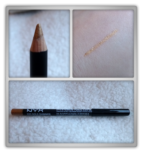 NYX - Eye/eyebrow pencil - 933 Gold shimmer