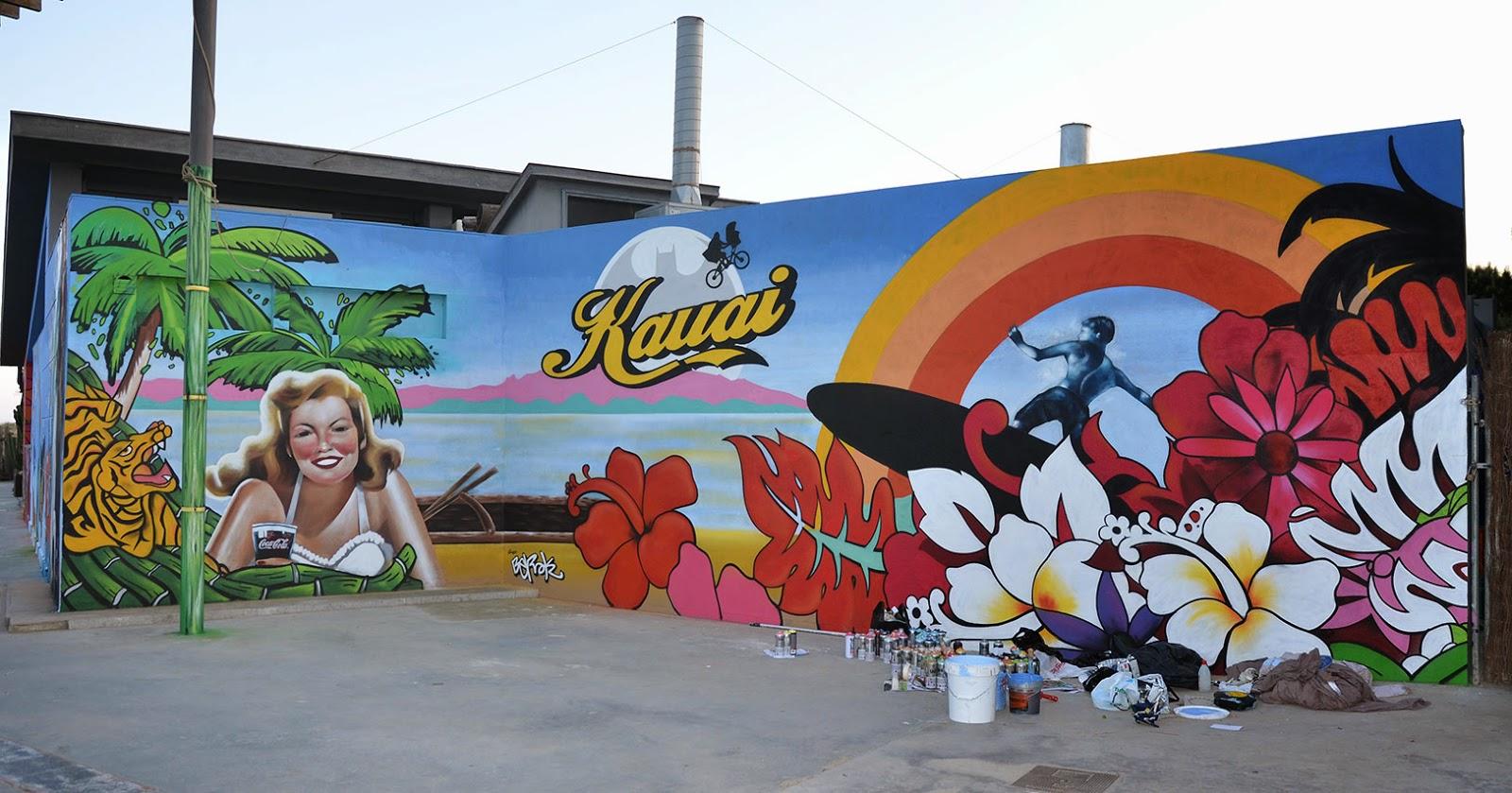 Berok graffiti mural profesional en barcelona graffiti - Murales con fotos ...