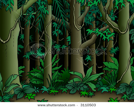 Cartoon Jungle Scene Stock photo cartoon jungle