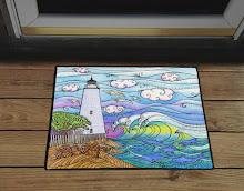 Stephanie Kiker Ocracoke Door Mat