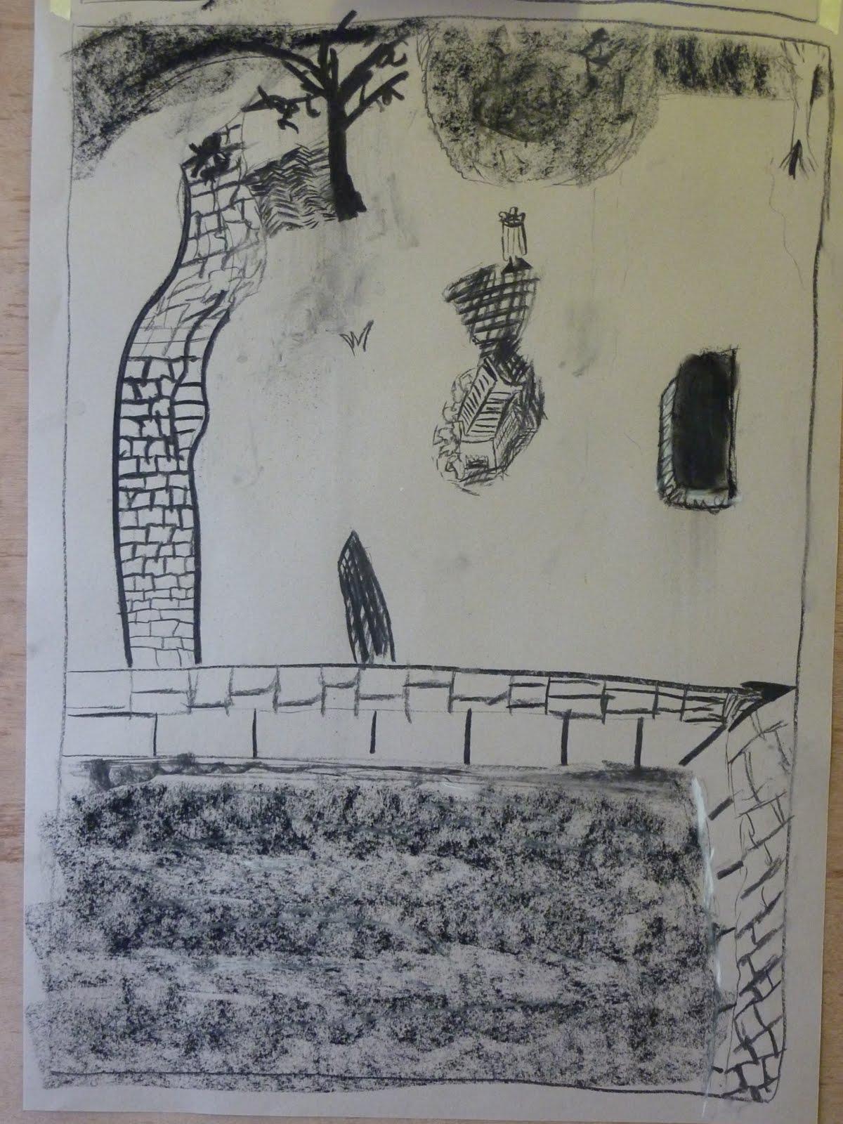 Line Art Ks2 : South east school of art work in progress ks drawing