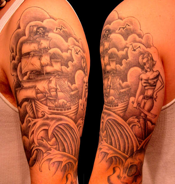 Religious Sleeve Tattoos Ideas