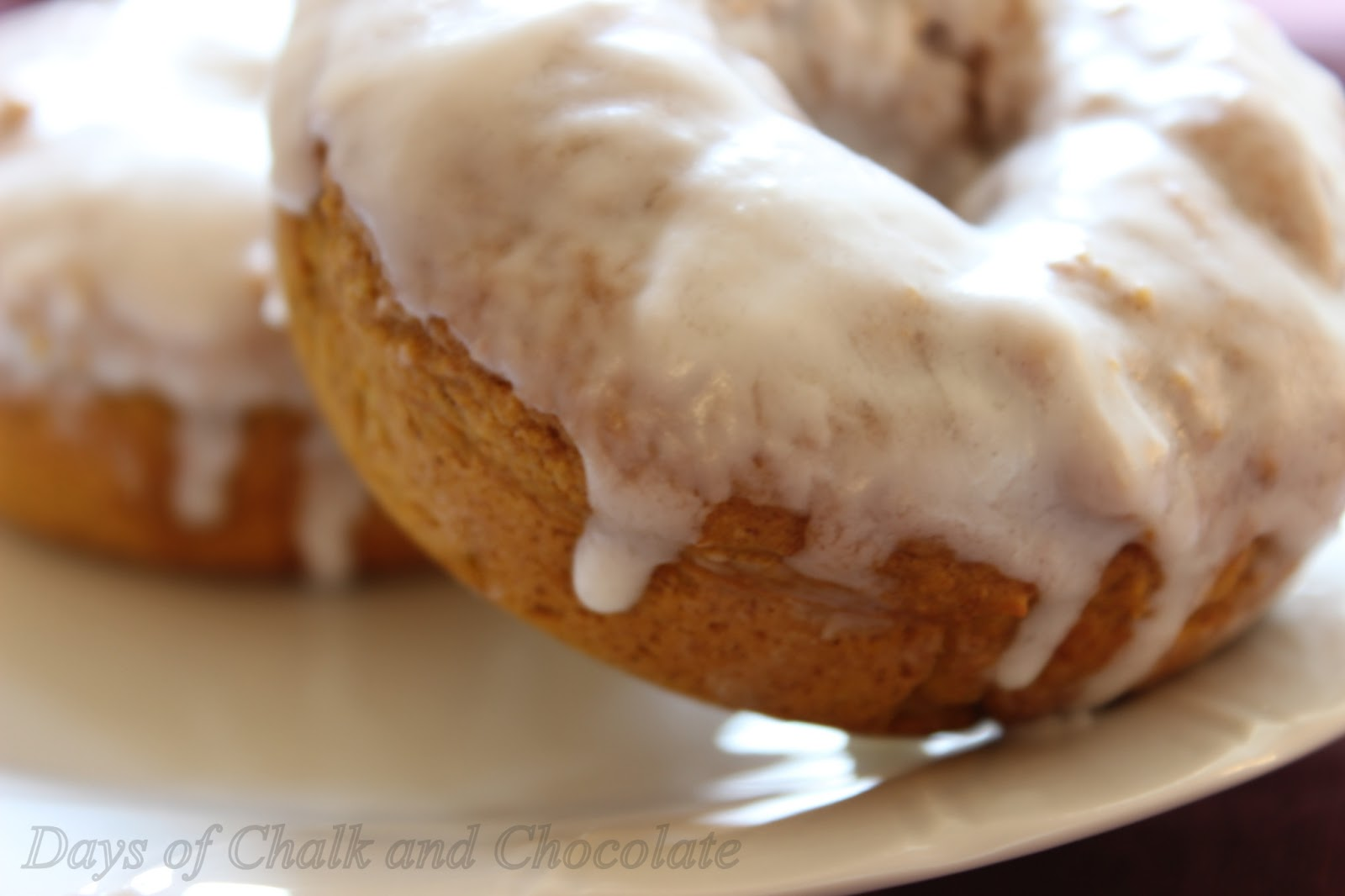 Days of Chalk and Chocolate: Baked Pumpkin Doughnuts