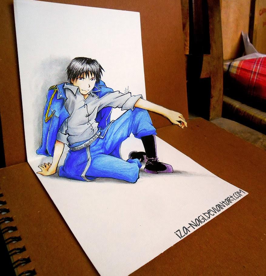 10-Mustang-Izanagi-Aadi-aka-Iza-nagi-3D Pencil Drawings-www-designstack-co
