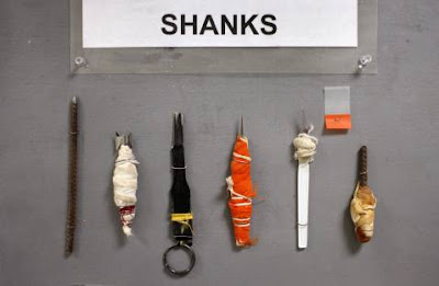 assortment of shivs jail house weapons