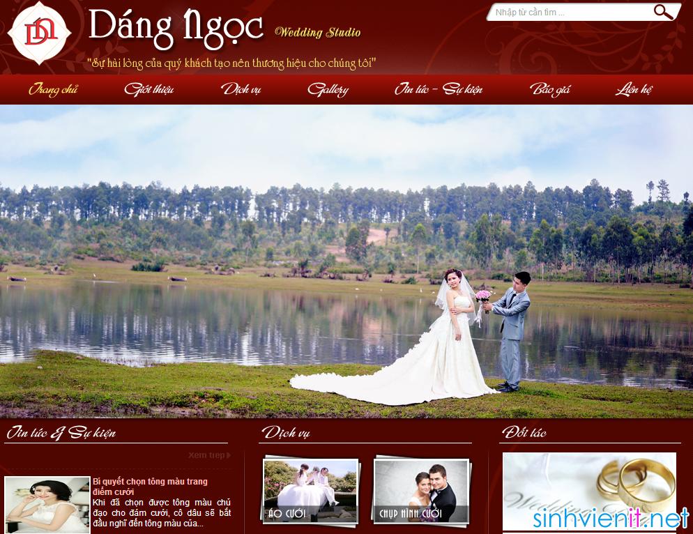 thiết kế website bán hàng váy cưới chuyên nghiệp