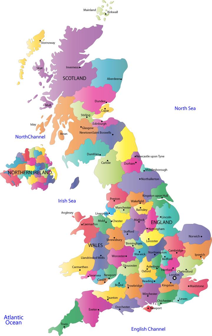Carte du royaume uni departement r gion carte du monde for Region du 59
