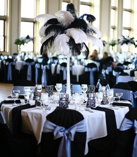 These feather centerpieces are the one thing I am most excited about