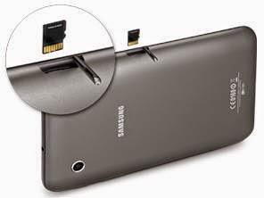 Samsung Galaxy Tab2 7.0 microSD slot