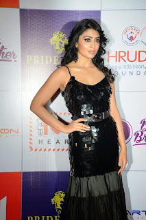 Actress Shriya Saran Latest Picture in Black Long Dress at CCL Charity Dinner 3