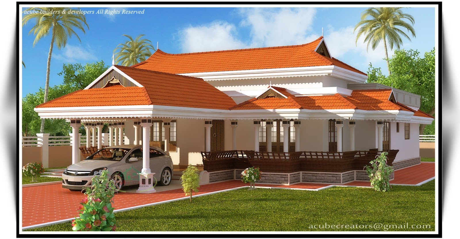 Kerala Model House 2292 Sq Ft Plan 120 Acube