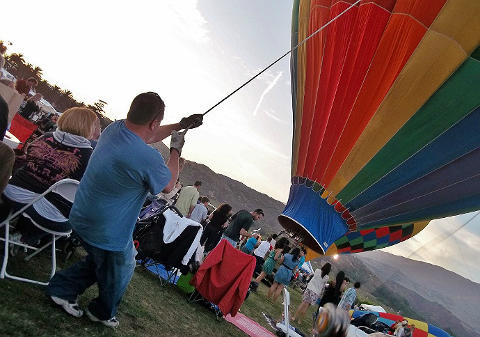 Tethering A Hot Air Balloon