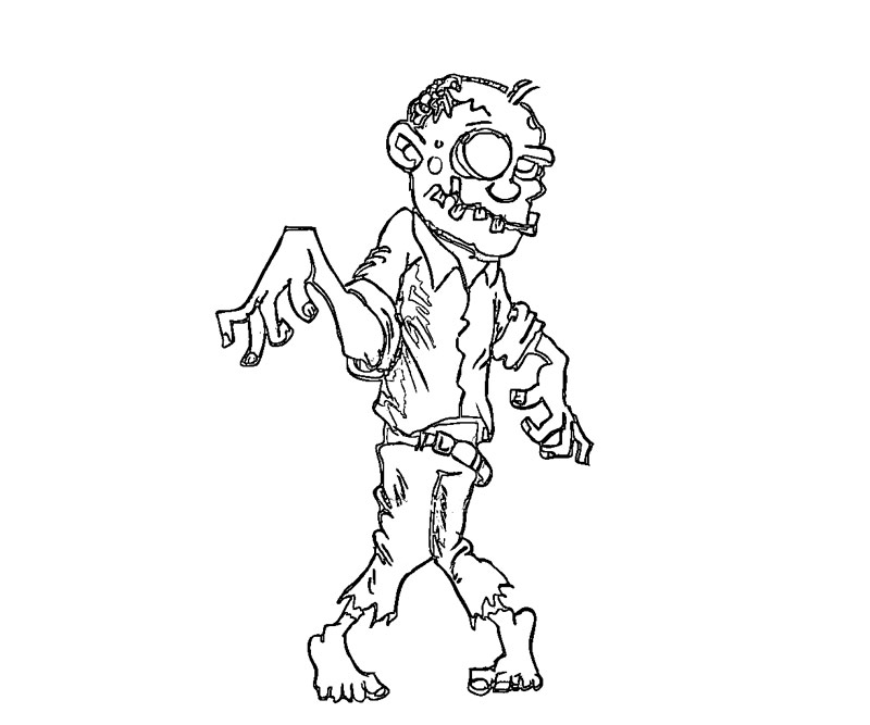 walking dead zombies coloring pages - photo#50