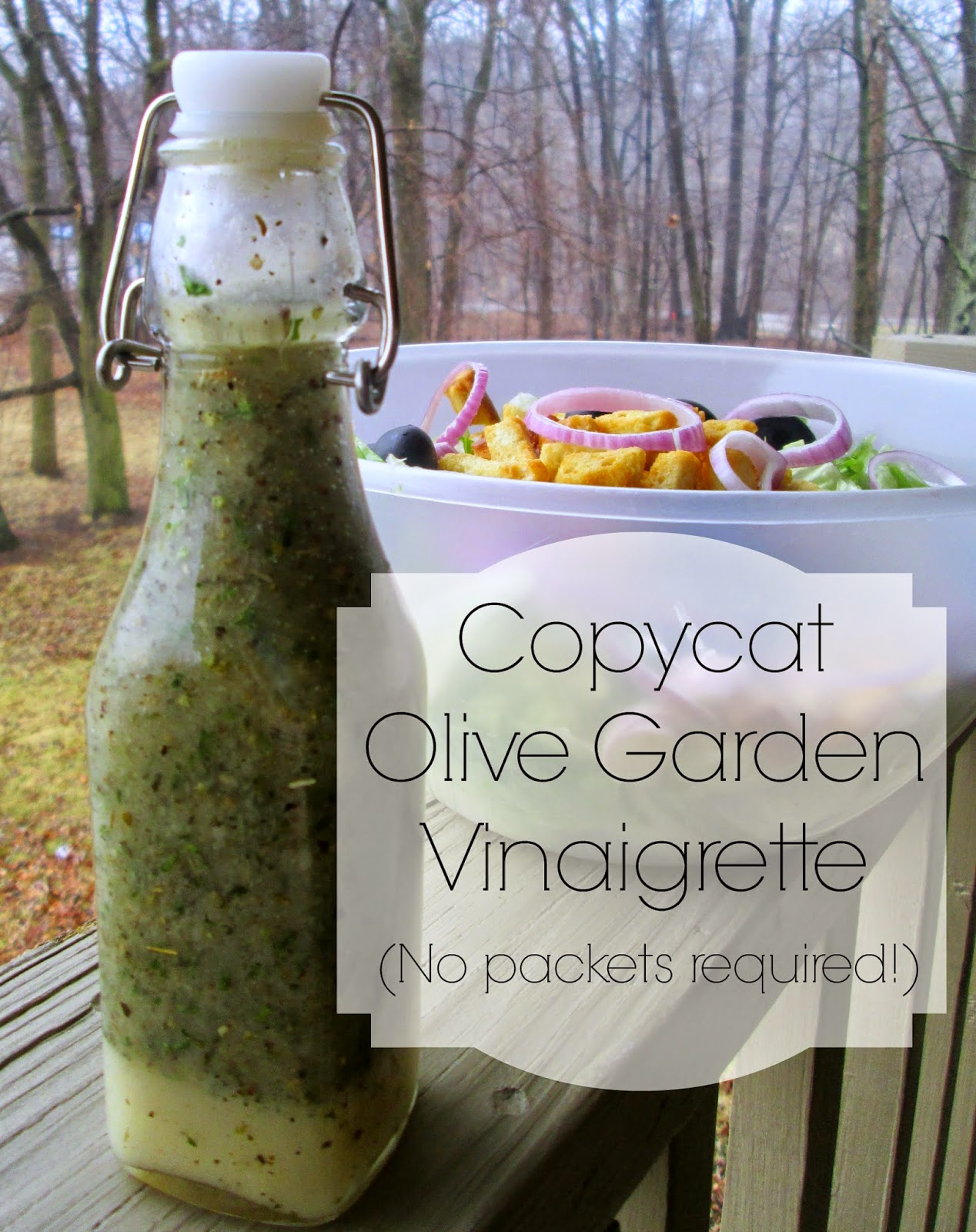 The rehomesteaders copycat olive garden vinaigrette no packets required for Call the olive garden