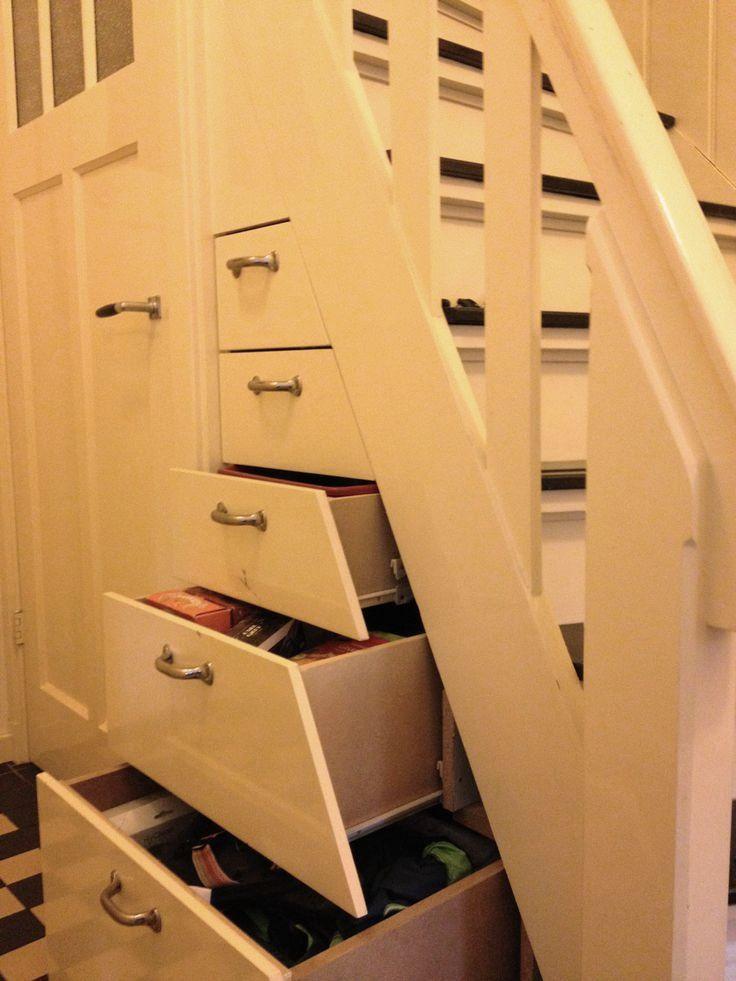 Binnenkant slimme trapkast - Handige trap ...