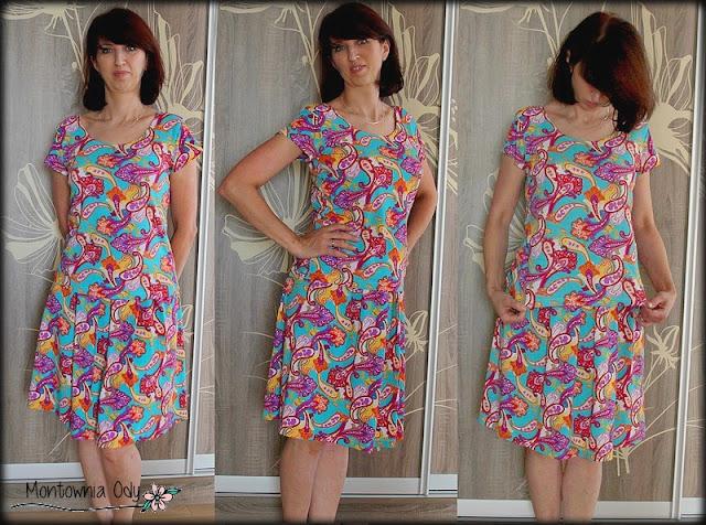 Domowa sukienka dwuczęściowa