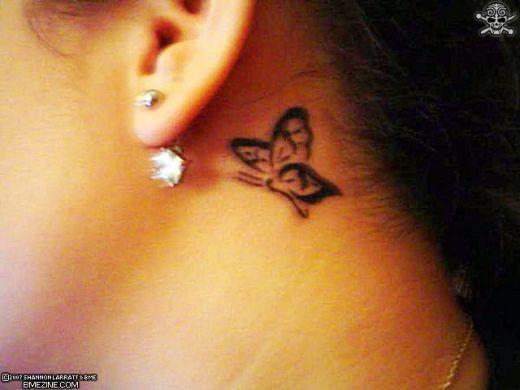 Tattoos Behind Ear Ideas For