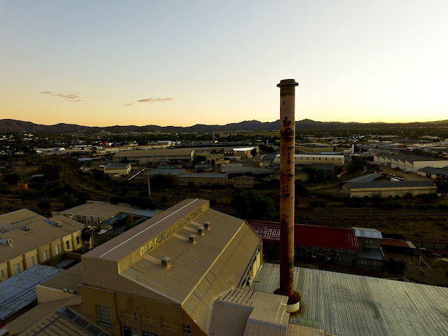 Namibia: old power station in Windhoek aerial photos