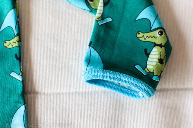 ottobre sausage dog nosh organics krokotiili kangas kantinkääntäjä ompelukoneeseen