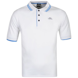 Trespass Men's Filter Polo Shirt- White