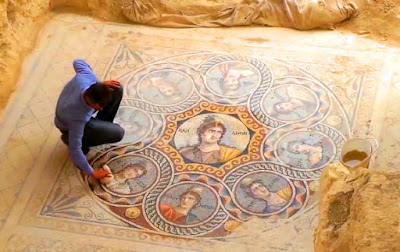 Glass Muses mosaic from Zeugma, Turkey, 2nd century BC